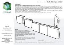 SLD Steelab planters Straight Linear
