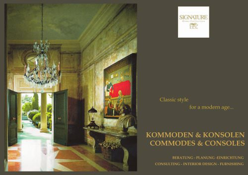 Commodes & consoles 2017
