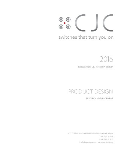 Catalogue CJC Switches 2016
