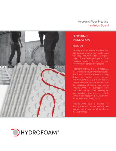 Hydronic Floor Heating Insulation Board