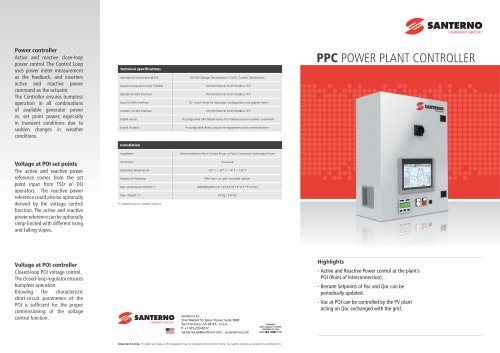 PPC POWER PLANT CONTROLLER