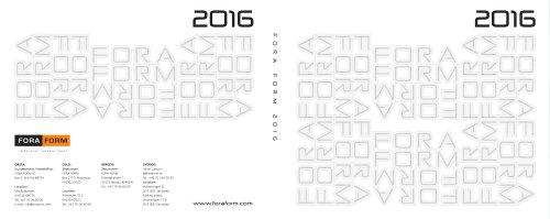 Fora Form Catalog 2016
