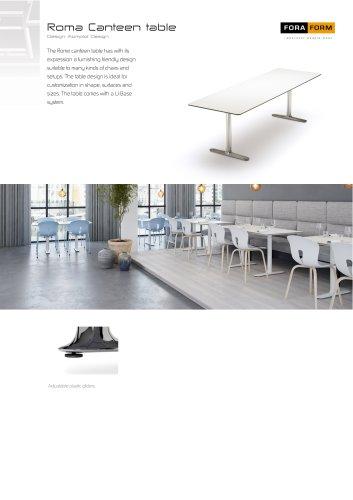 Roma Canteen table