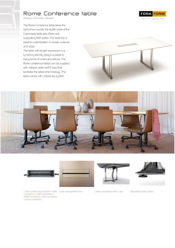 Rome Conference table