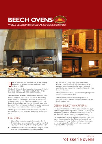 Beech Ovens Rotisserie