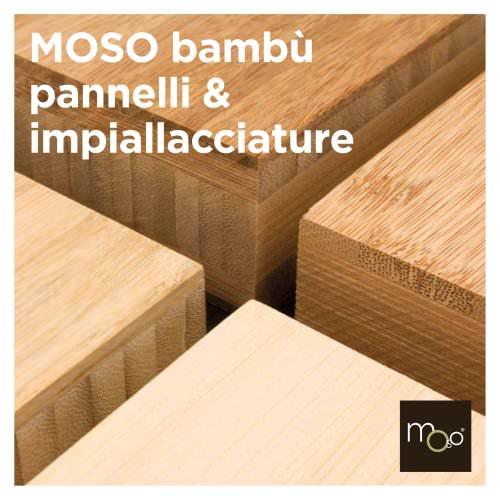MOSO bambù pannelli & impiallacciature