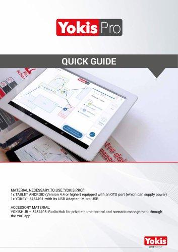 Yokis Pro app quick guide