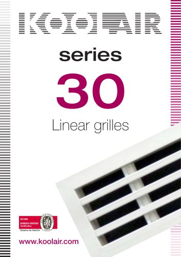 Linear grilles – Series 30