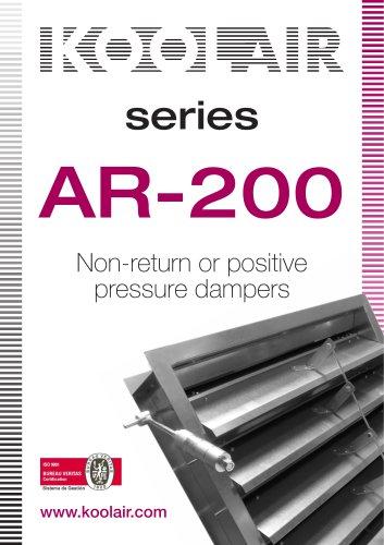 Series AR-200 Non-return or positive pressure dampers