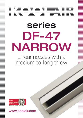 Series DF-47 NARROW Linear nozzles with a medium-to-long throw