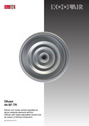 Thermo-adjustable circular diffuser – 44SFTR