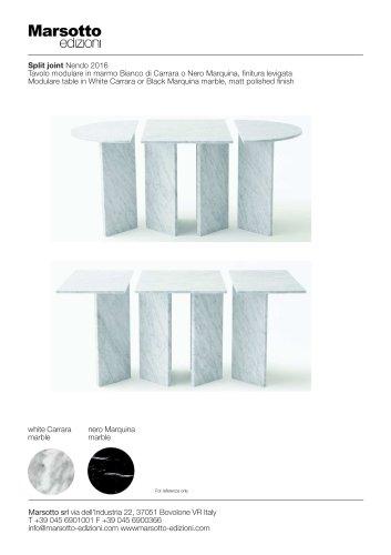 SPLIT JOINT MODULAR TABLE