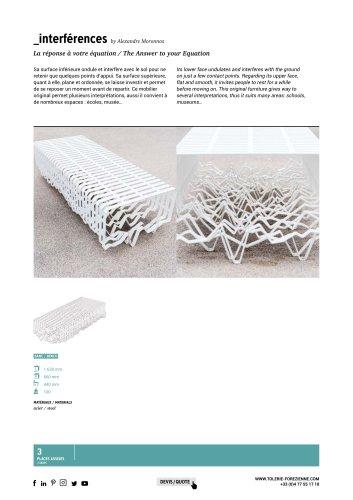 TF URBAN - sculptural bench INTERFERENCES - design by Alexandre Moronnoz