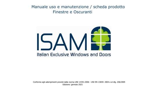 ISAM manuale uso e manutenzione e scheda prodotti