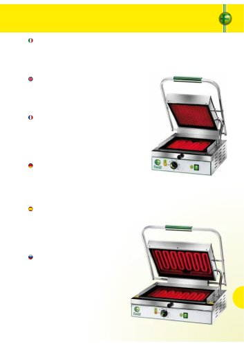 Electric contact grills in glass ceramic - PV55/LL-LR