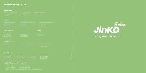 Jinko Company Brochure