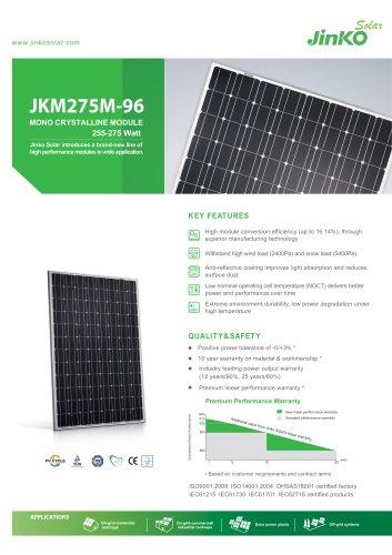 Standard Module:JKM275M-96(255W~275W)