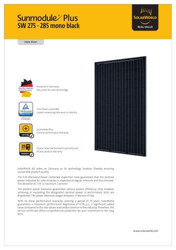Sunmodule Plus SW 275-285 mono black