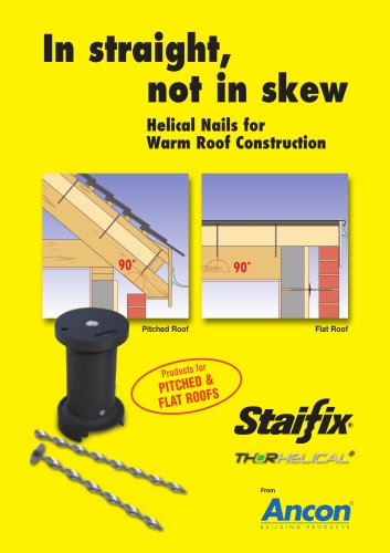 Staifix Helical Nails for Warm Roof Construction