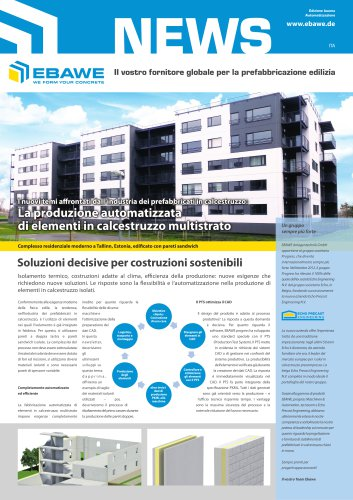 I nuovi temi a rontati dall'industria dei prefabbricati in calcestruzzo: La produzione automatizzata di elementi in calcestruzzo multistrato