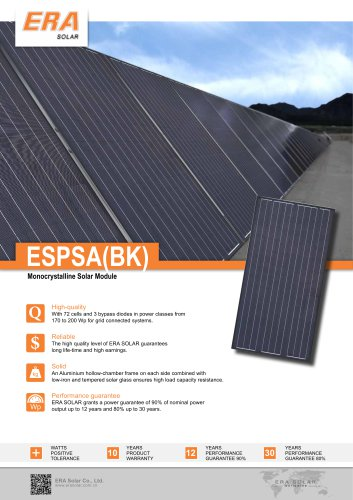 ESPSA(BK) Monocrystalline Solar Module
