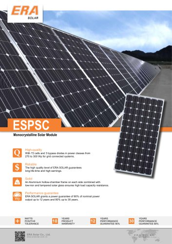 ESPSC Monocrystalline Solar Module