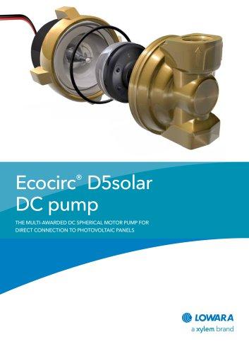 Ecocirc® D5solar DC pump