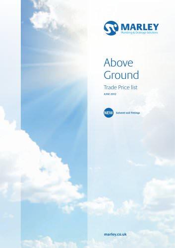 Above ground price list - June 2012