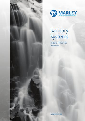 Sanitary systems price list - January 2012