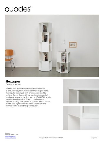 Quodes - Hexagon design Nendo - product information PDF