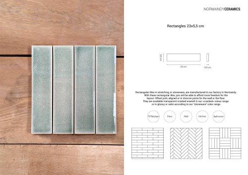 Product sheet-Rectangles-5,5x23-Normandy Ceramics