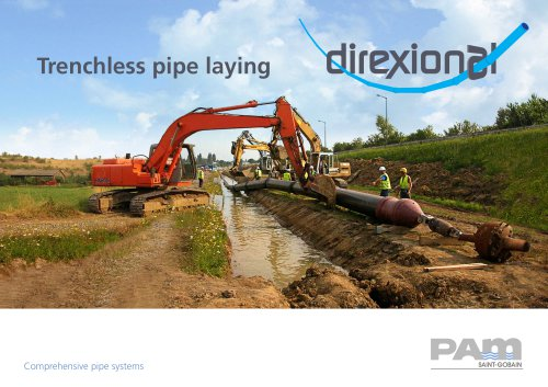 Trenchless pipe laying