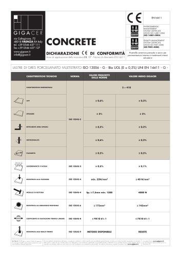 Concrete Scheda Tecnica Gigacer Catalogo Pdf Documentazione Brochure