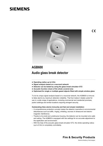 AGB600 - Audio glass break detector