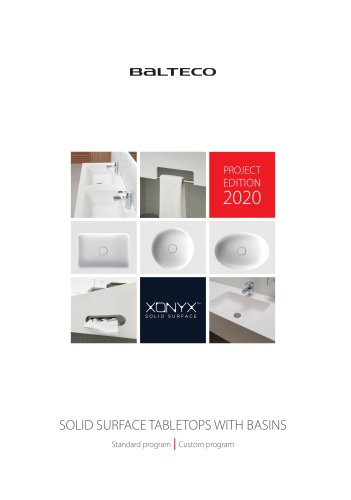 SOLID SURFACE TABLETOPS WITH BASINS