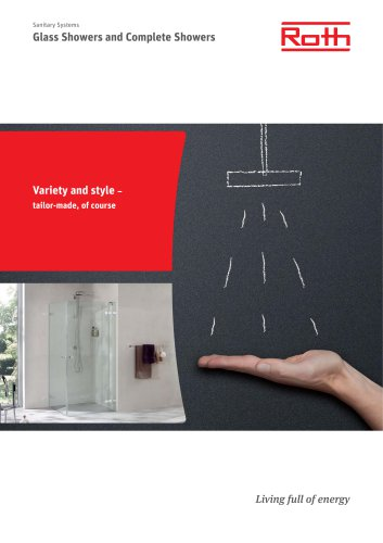 Brochure Roth Glass Showers and Complete Showers