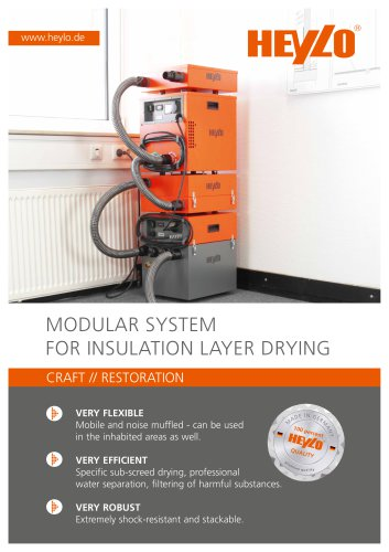 MODULAR SYSTEM FOR INSULATION LAYER DRYING