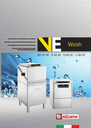 Electronic glass-cupwashers and dishwashers