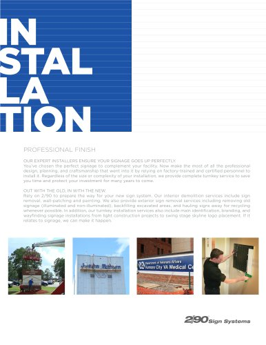 Installation Flyer