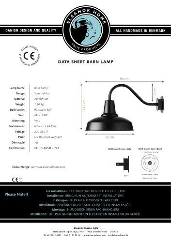 Barn Lamp, black
