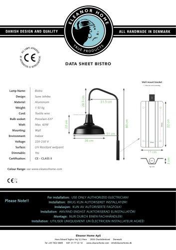 Bistro Lamp, black