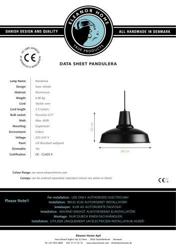 Pandulera, black