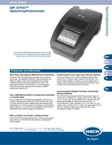 DR 2700 Laboratory Spectrophotometer