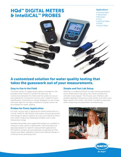 HQd Digital Meters and IntelliCAL? Probes