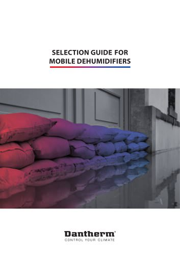 Selection guide for mobile dehumidifiers
