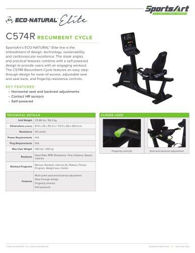 C574R RECUMBENT CYCLE