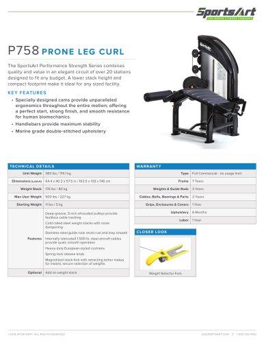 P758 PRONE LEG CURL