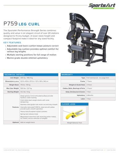 P759 LEG CURL