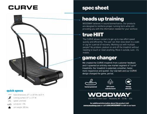 CURVE spec sheet