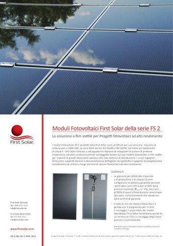 Moduli Fotovoltaici First Solar della serie FS 2